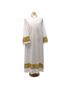 Alba con encaje dorado en mixto algodón Alba disponible en varias medidas.