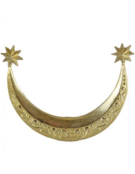 Complemento de imagen religiosa.  Esta media luna será el adorno perfecto para el trono de la virgen. A los pies de la luna,