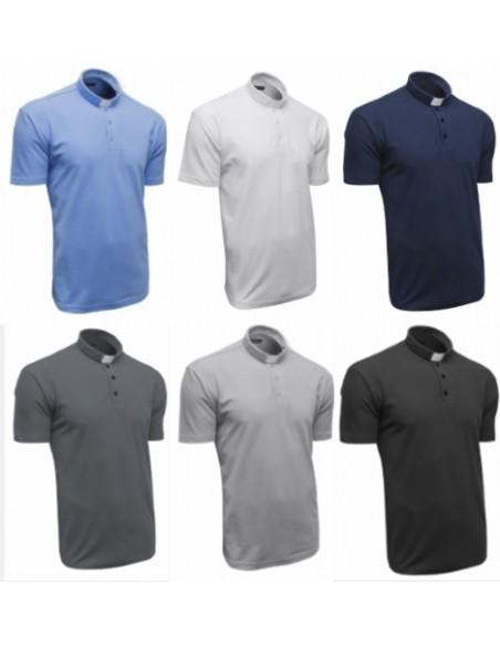 Polo para sacerdote de manga corta 100% algodón. Disponibles en diferentes tallas y colores.