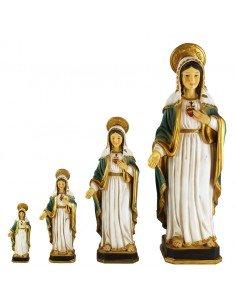 Corazón de María realizado en resina. Distintas medidas disponibles: 8 x 2´5 cm 13 x 5 cm 20 x 8 cm 31 x 11 cm