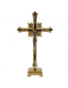 Cristo sobremesa metal en diferentes acabados. altura: 30 cm