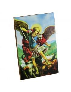 Cuadrito de madera con la imagen del Arcangel San Miguel