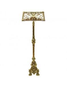 Atril de pie de altura regulable, bronce en acabado dorado. Atril de pie realizado en bronce de gran calidad en acabado color