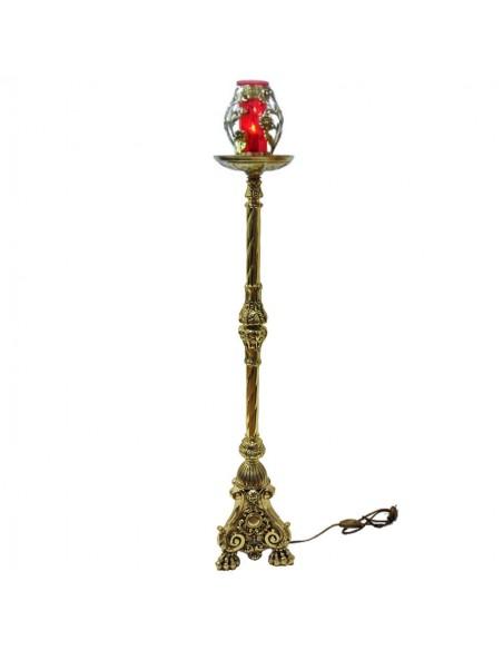 Portalampara del Santísimo bronce eléctrica diseñado para la lámpara del santísimo. Se puede elegir preparado para velón de ce