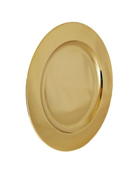 Patena latón dorada. Dimensiones: Ø 23.5 cm