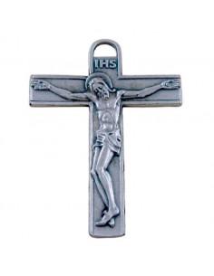 Cruz metal plateado de 6.5 cm