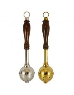 Hisopos de 6 x 28 cm en color plateado o dorado.  Los acetres compañeros son el artículo 002925.