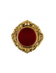 Relicario con anillo y decoracion barroca.   Medidas: 3x3 portareliquia: 1,7 cm
