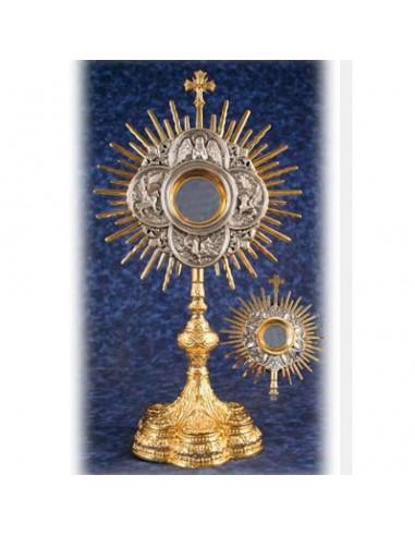 Custodia balo de oro, decoracion Evangelistas, 60 cm altura y 33 cm ancho.