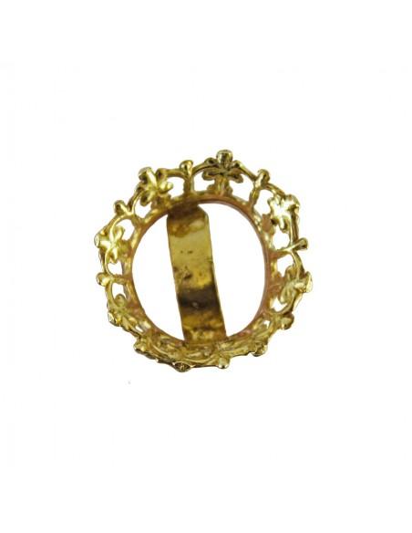Complemento para imagen. Corona dorada en metal. Disponible en 2 y 3 centímetros de diámetro.