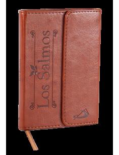 Elegante edición en piel de Los Salmos, con canto dorado, cinta de registro y cubierta de agradable tacto, en imitación piel co