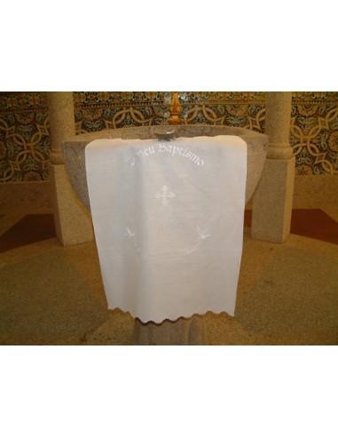 PAÑO BAUTISMO CRUZ Medidas: 82 x 49 50% lino y 50% algodon