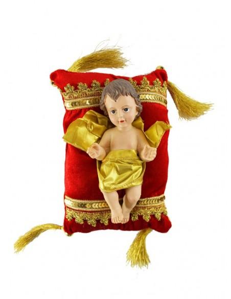 Medida cojin 22 cm de alto x 15 cm de ancho  Medida niño Jesús: 18 cm de alto x 8 cm de ancho