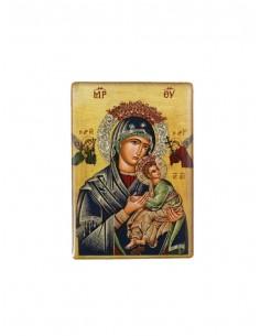 Iman de la Virgen de Perpetuo Socorro. Resina.