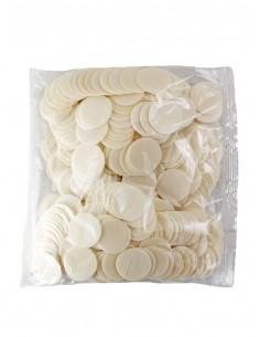 Formas pequeñas para consagrar de calidad especial. Bolsas de 500 unidades. Dimensiones: Ø 4cm.