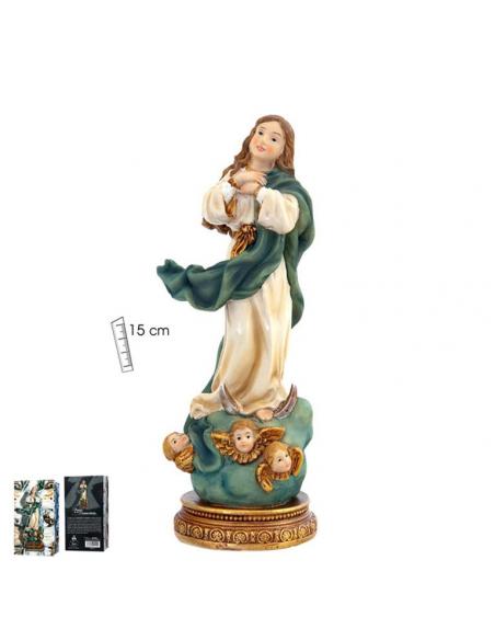 Virgen Inmaculada resina 15 cm.
