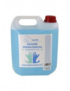 Higienizante de manos hidroalcoholico en garrafa de 5 litros. De base alcohólica 70 %.