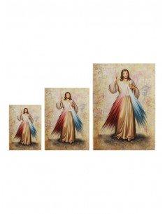 Cuadro estilo lienzo con la imagen de Jesus Misericordioso Disponible en dos medidas: 13 x 18 cm, 18 x 25 cm y 30 x 40 cm