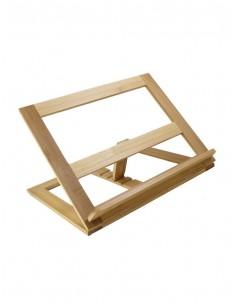 Atril de Bambú. Atril realizado en bambú con acabado pulido liso con las vetas visibles de la madera. Ideal para usar en casa