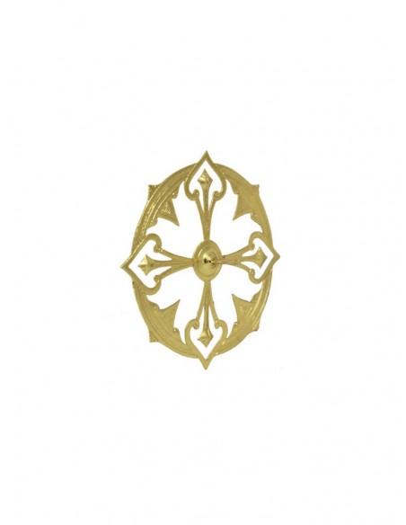 Aureola para imagen del Sagrado Corazón de Jesús de metal en dorado. A partir de los 8 cm las aureolas pasan a tener solo 1 pu