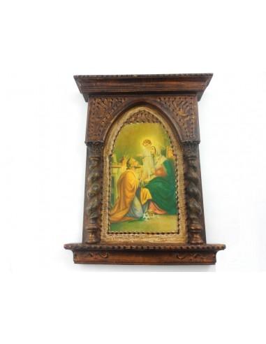 Cuadro de la Sagrada Familia. Material: Madera Medidas: 39 cm alto x 30 cm largo x4 cm ancho