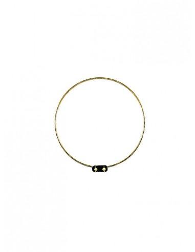 Aro simple grabado en metal.  La medida corresponde al diámetro.
