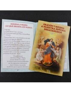 Novena y oracion a nuestra señora Virgen desatanudos, 15x10 cm.