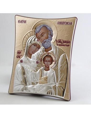 Icono griego Sagrada Familia, 16 x 20 cm.