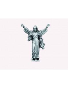 Iman Jesus Resucitado metal.  Medidas:  Alto: 4 cm. Ancho: 3 cm.