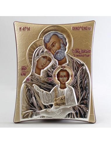 Icono griego Sagrada Familia, 20 x 25 cm.