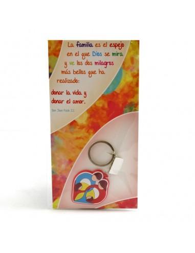 llavero Familia, 4 cm, goma.