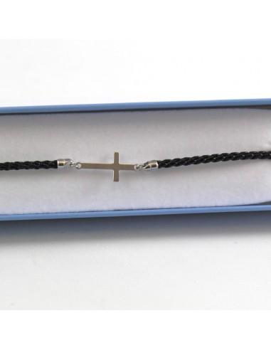 Pulsera Plata cruz, 925