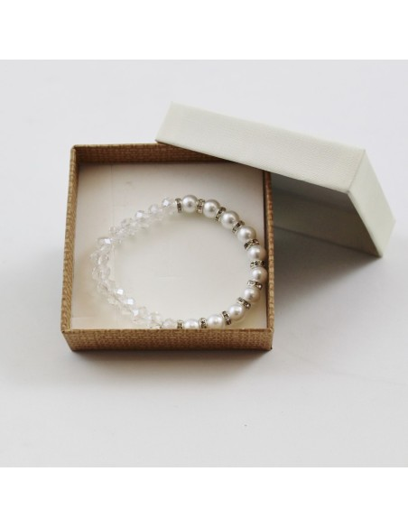 Pulsera Perlas/cristal Milagrosa.