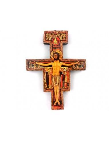 Cruz de madera de San Damian Medida: 18 x 13,5 cm y 37,5 x 28 cm