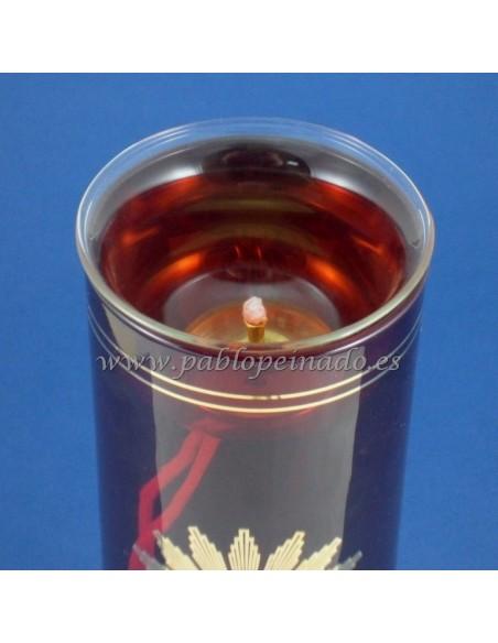 Soporte de mecha para vaso lámpara del Santisimo, para vasos de  Ø 7.5 a 8 cm.