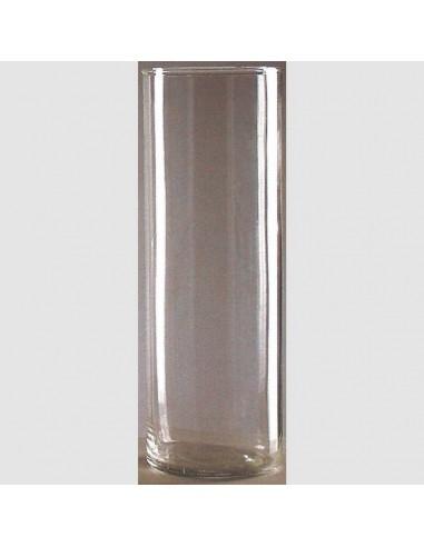 Vaso de lámpara del Santísimo transparente. 8 días.