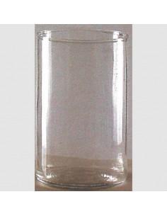 Vaso de lámpara de Santísimo de cristal. 4 días