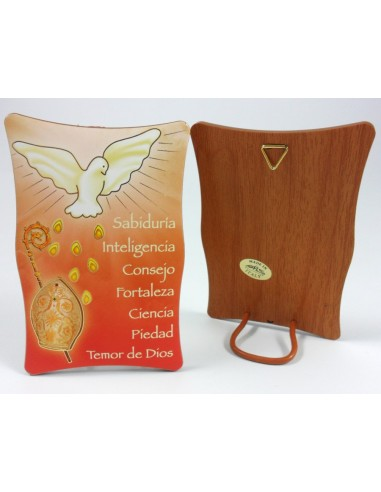 Caudro moldurado con imagen paloma , 10 x 7 cm, tanto para colgar como para sobre mesa