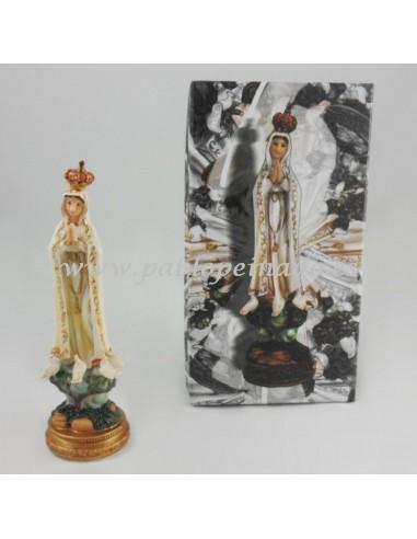 Virgen de Fátima resina 15 cm.