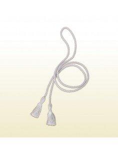 Cingulo de cordon para monaguillo blanco con borlas Medida. 180 cm