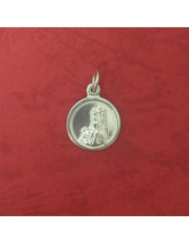 Medalla de la Virgen de las Angustias en Plata de Ley 1 cm