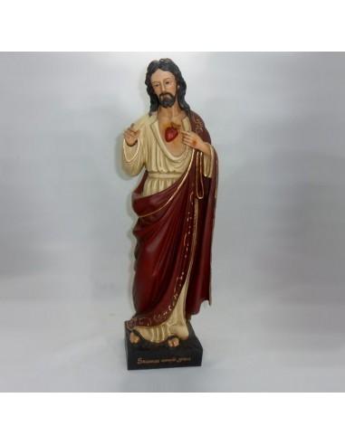 Imagen Sagrado Corazón de Jesús en marmolina 60 cm.