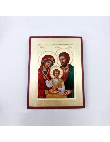 Cuadro de la sagrada familia de madera, 24x18
