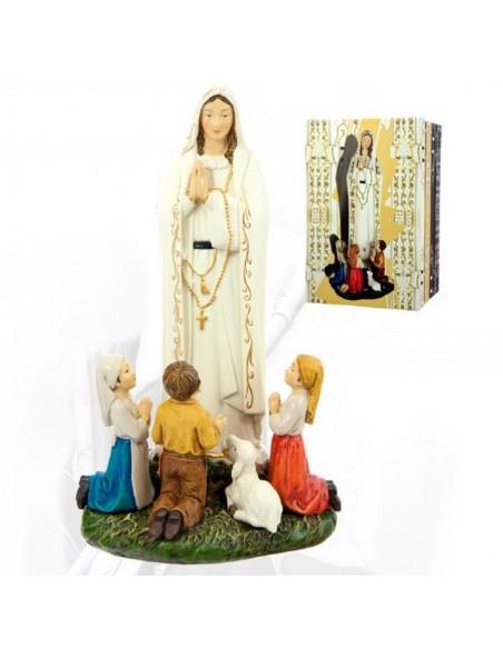 Virgen de Fátima con niños disponible en diferentes medidas