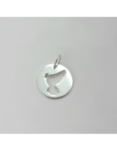 Medalla paloma para colgante Medida medalla: 2 cm