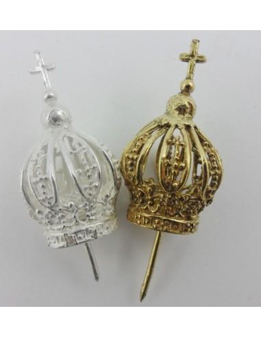 Corona imperial metal 1.50 cm. Dorada y plateada.