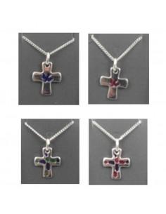 Cruz rodio Medida: 16,5 x 13,5 Disponible en diferentes formas y colores